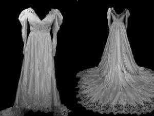 Vintage Bridal Long Sleeve Wedding Gown VG1003-18
