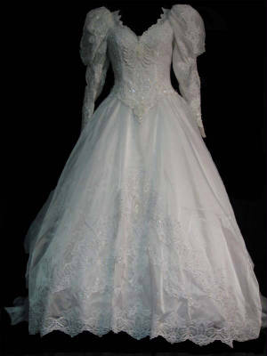 60gownf.jpg Vintage bridal wedding gown front