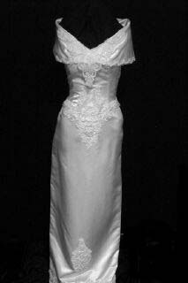 Vintage bridal wedding gown front VG0102-17