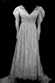 Wedding Gown VG1003. Vintage Long Sleeves Modest